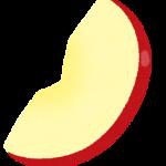 皮付きリンゴのイラスト