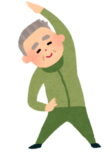 体操のイラスト(おじいさん)
