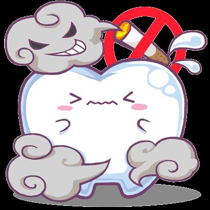 歯とタバコのイラスト1
